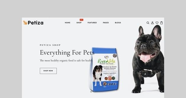 Petiza - Pets Food Shopify Theme