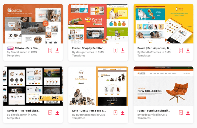 pet store themes for Shopify on Envato Elements