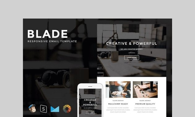 Blade - Responsive Email + StampReady Builder by LEVELII