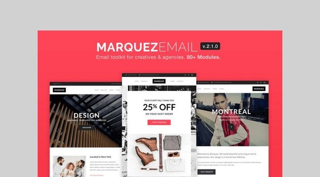 Marquez - Email for Agencies 80+ Section by ThemeMountain