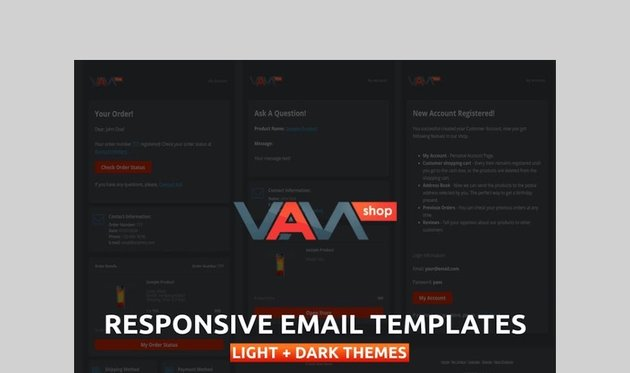 Responsive Email Templates for eCommerce Website by vamshop
