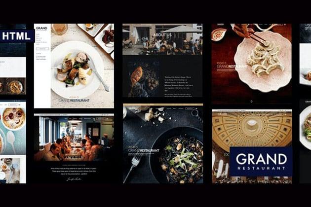 Grand Restaurant on Envato Elements