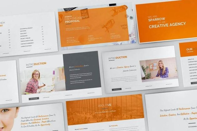 Sparrow PowerPoint Template on Envato Elements