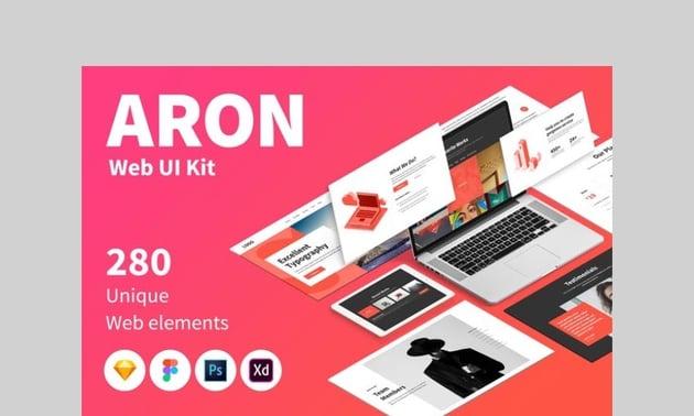 ARON WEB UI Kit by laaqiq
