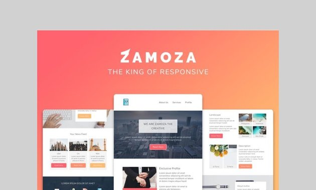 Zamoza responsive real estate template