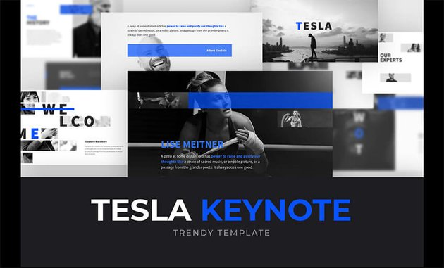 Free Tesla PowerPoint Template for Graduation Ceremonies