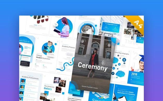 Ceremony Portrait Education Premium PowerPoint template