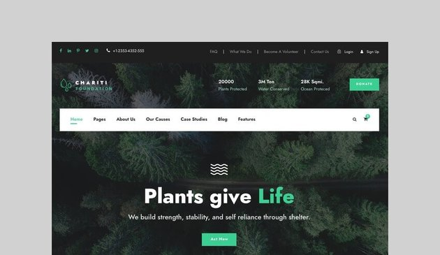Charity Charity and Donation WooCommerce theme