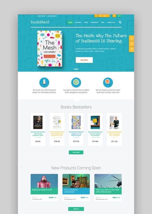 Bookshelf WooCommerce WordPress theme