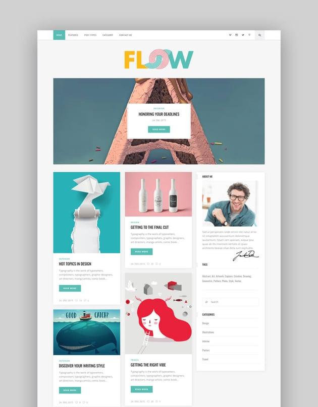 Flow - Creative Blog WordPress Theme