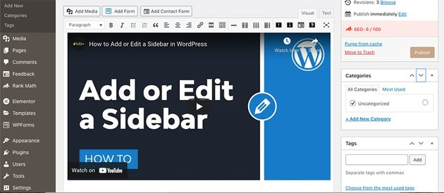 Embed a YouTube Video Using Classic Editor in WordPress
