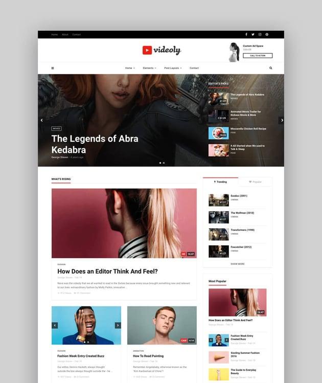 Videoly - Video WordPress Theme