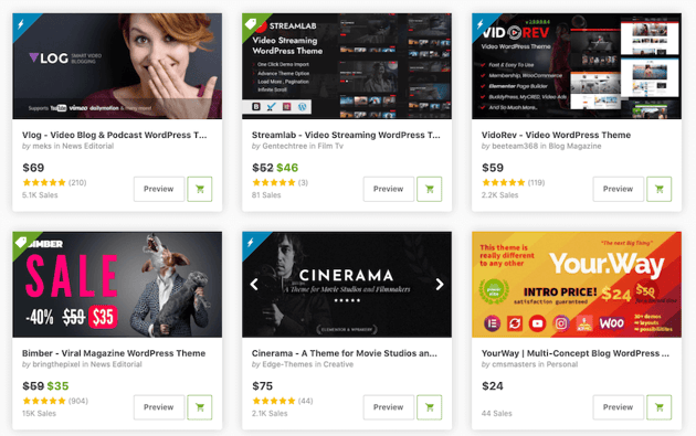 WordPress themes for vloggers