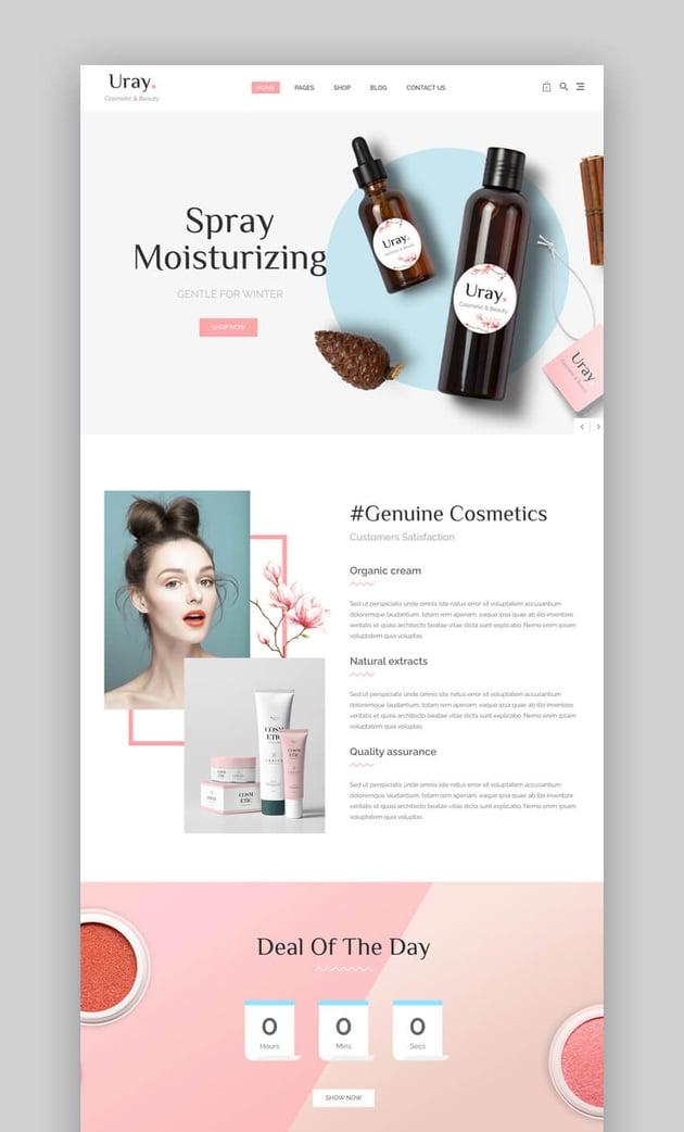 Uray - Amazing Beauty And Cosmetics WooCommerce Theme
