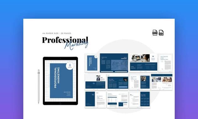 Professional Marketing Proposal Word