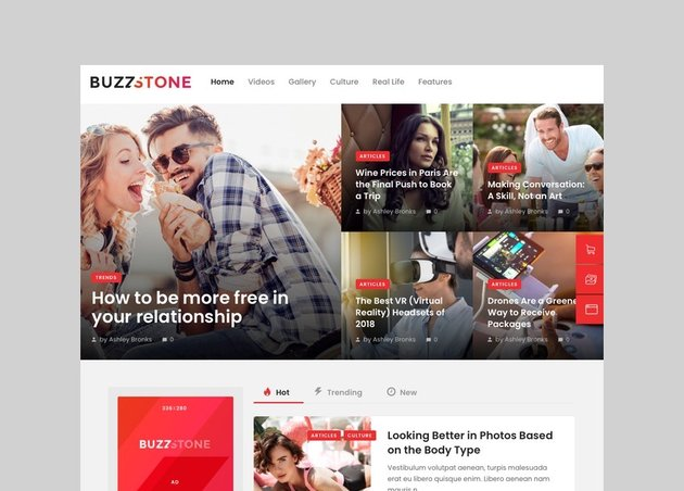 Buzz Stone - Magazine and Viral Content WordPress Theme