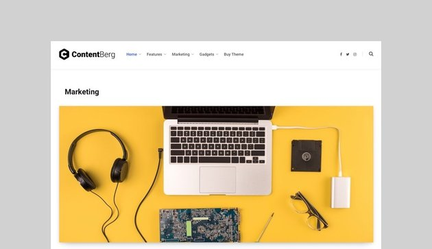 Contentberg - Content Marketing and Viral News Theme