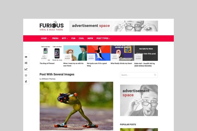 Furious - Viral and Buzz WordPress Theme