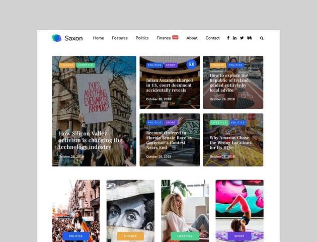 Saxon - Viral Website Theme for WordPress