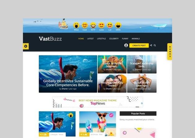 Vast Buzz - Magazine and Viral News Theme