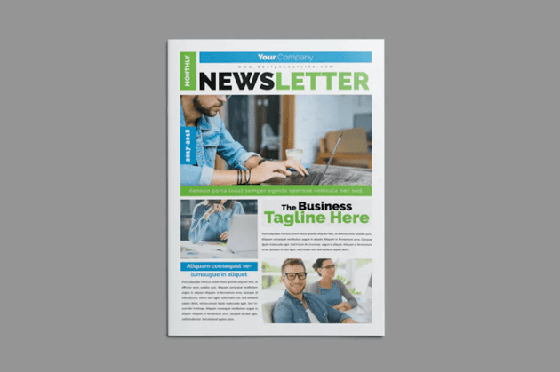 Split Layout design in a newsletter template
