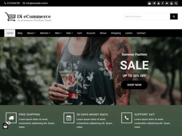 Di eCommerce - Free eCommerce WordPress Theme