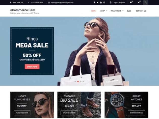 eCommerce Gem - Free WordPress Theme