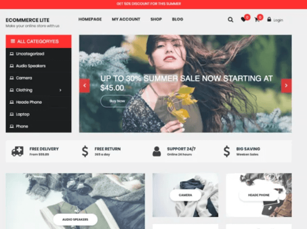 eCommerce Lite - Free WordPress Theme
