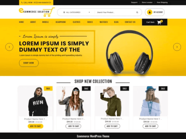 eCommerce Solution - Free Online Store Theme