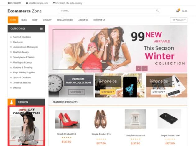 eCommerce Zone - Free WordPress Theme
