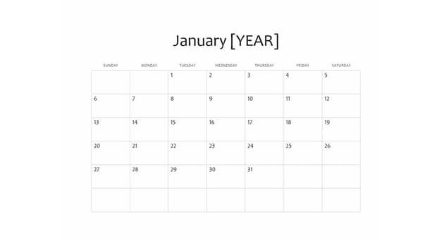 Free Calendar