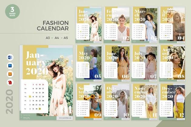 Fashion Calendar template