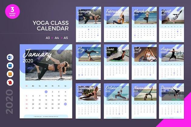 Yoga Class Calendar