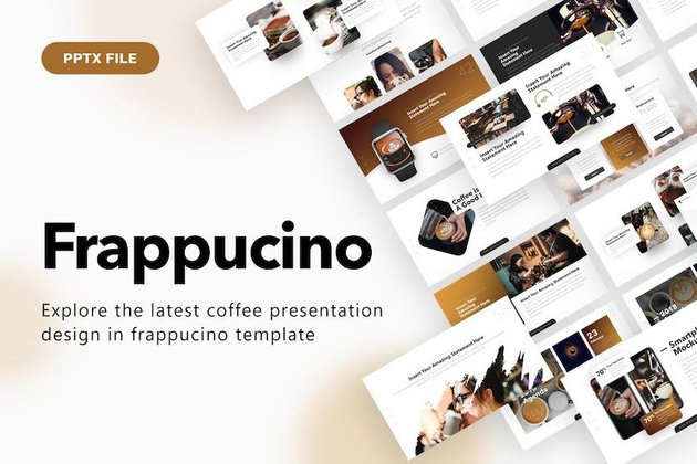 Frappuccino PowerPoint Template on Envato Elements