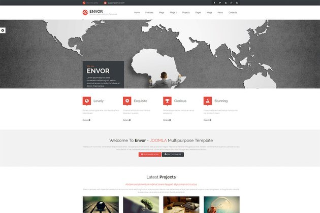 Envor Joomla blog template on Envato Elements