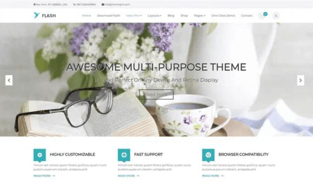 Flash blog WordPress theme