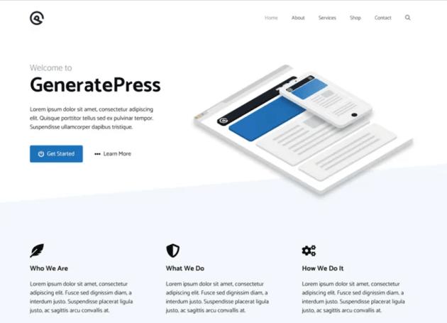 GeneratePress WordPress blog theme