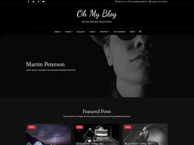 Oh My Blog WordPress theme