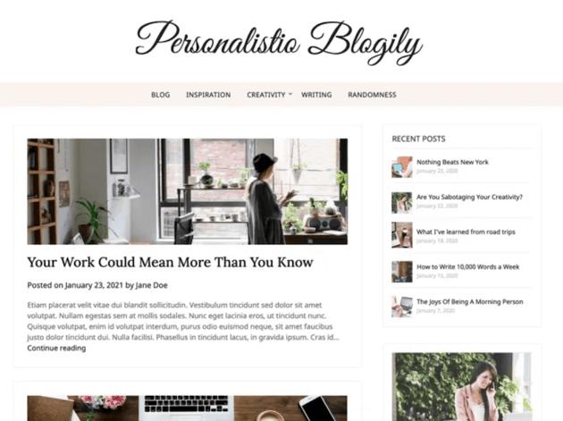 Personalistio Blog WordPress theme