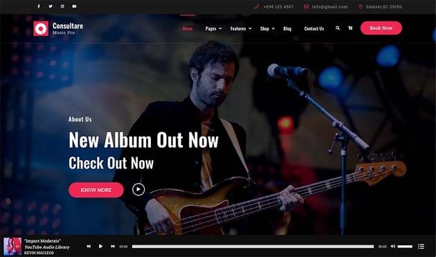 Consultare Music WordPress Theme