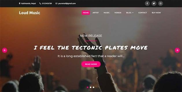 Loud Music Music WordPress Theme