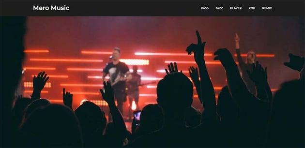 Mero Music WordPress Theme