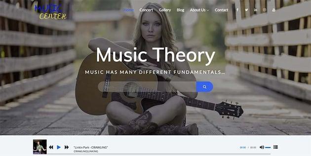 Music Center WordPress Theme