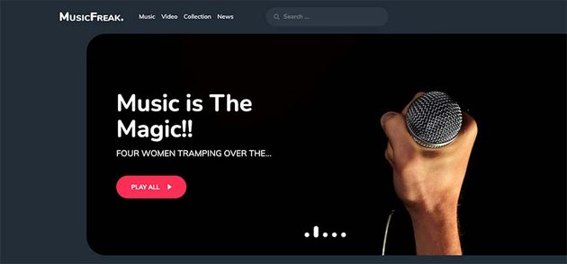 Music Freak WordPress Theme