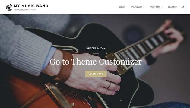 My Music Band WordPress Theme