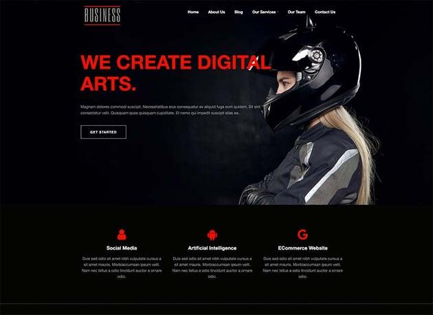 Business Dark WordPress Theme