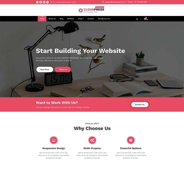 CloudPress Business WordPress Theme