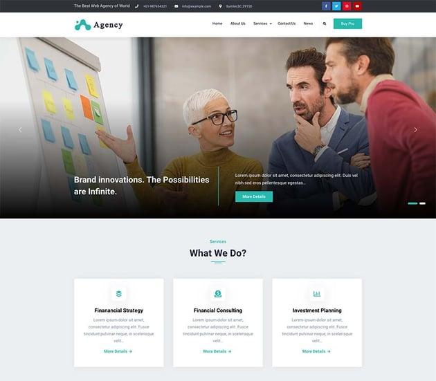 Elite Business Agency WordPress Theme