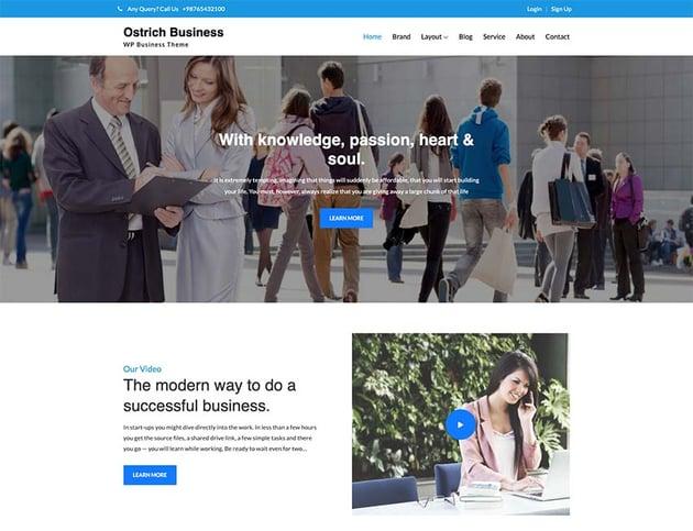 Ostrich Business WordPress Theme