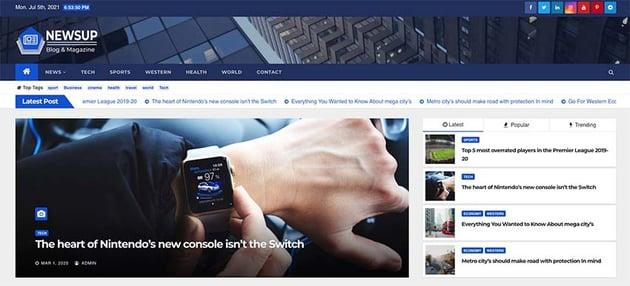 Newsup - Free WordPress Theme